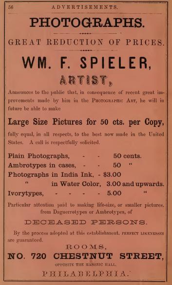 Wm F Spieler photog live deceased 720 Chs 1860