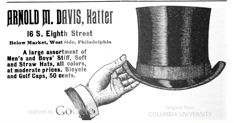 Arnold M Davis, hats REPORTERS NOSEGAY 1896 2016-03-26 (8)