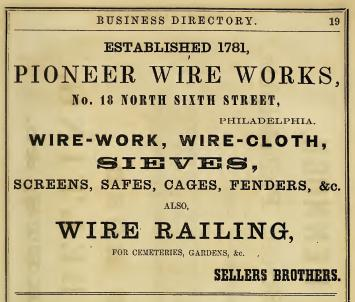 Pioneer Wr Wks of Sellers Bros 18 6n 1859