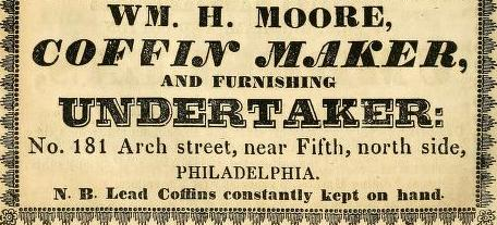 Wm H Moore Coffin Maker 181 Arc os or Arc nr 5 1839 Directory_0356