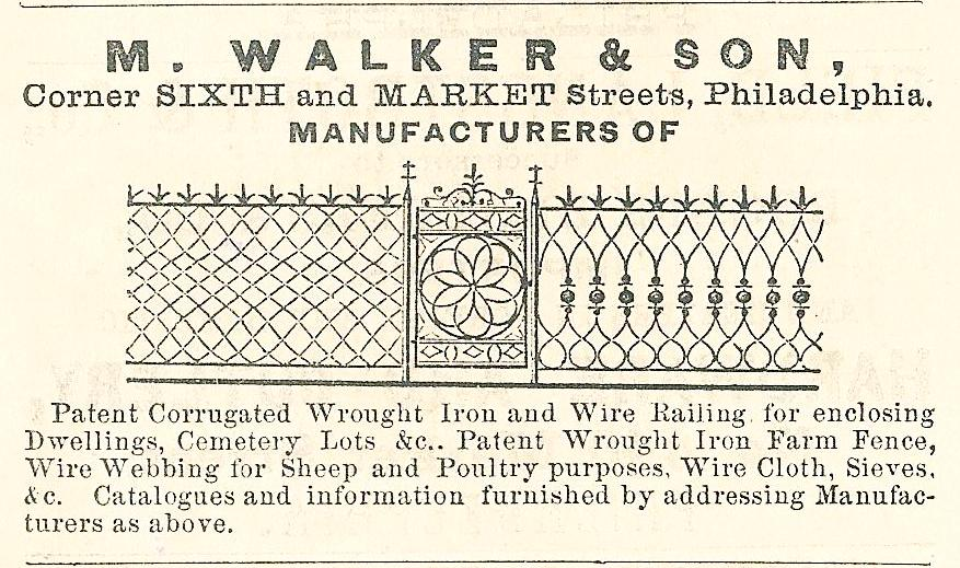 M Walker+Son, wrought iron+railing Mkt+6 Cowells Business Directory 1860 p137