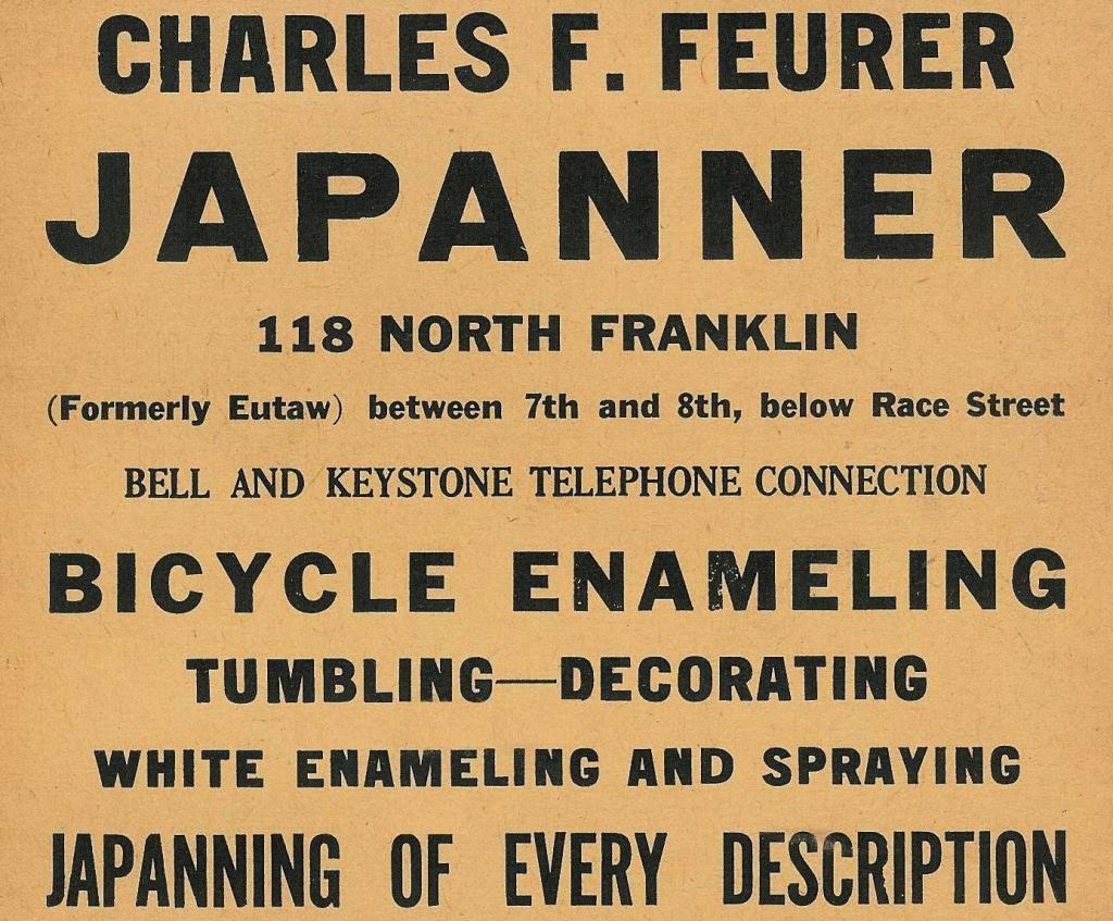 Chas F Feurer, japanner 118 FrklN Boyds Bus Direct 1917 1715