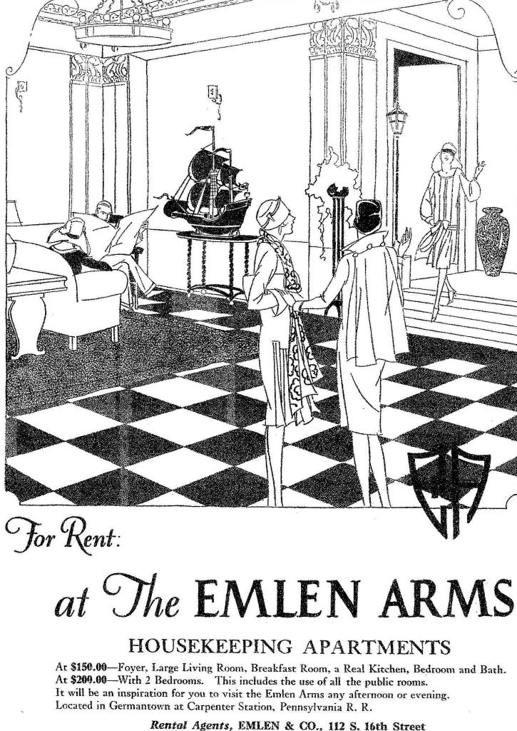 EE Emlen Arms 1926 PHILA FORUM