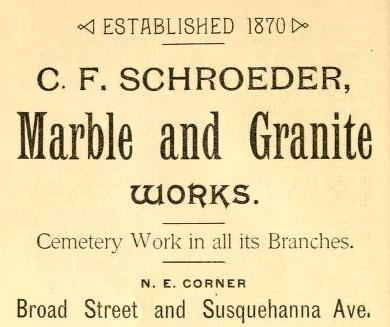 CF Schroeder mb+granite wks 14+Ssq 1892 Grace Bp Visiting List_0034