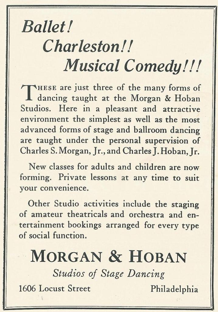 Morgan and Hoban Dance 1926 PHILA FORUM