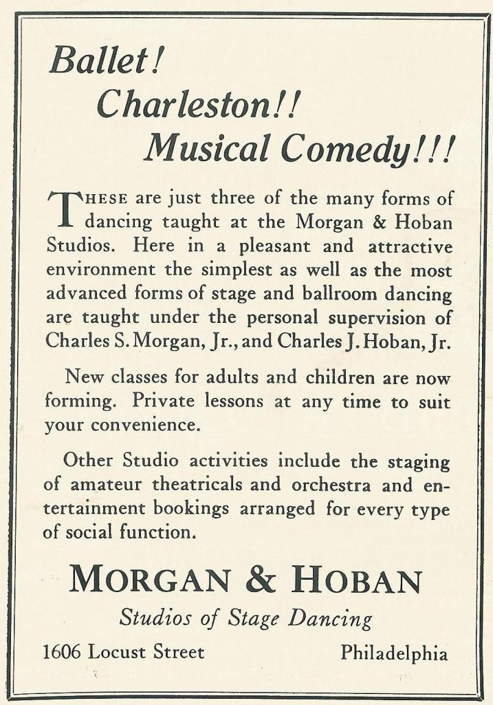Morgan and Hoban Dance 1926 PHILA FORUM