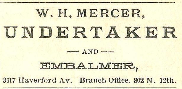 WH Mercer, undertaker+embalmer 802 12n Boyds BusDir 1890 1345