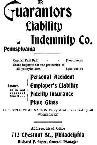 Guarantors Liability+Indemnity,713 Chs REPORTERS NOSEGAY 1896