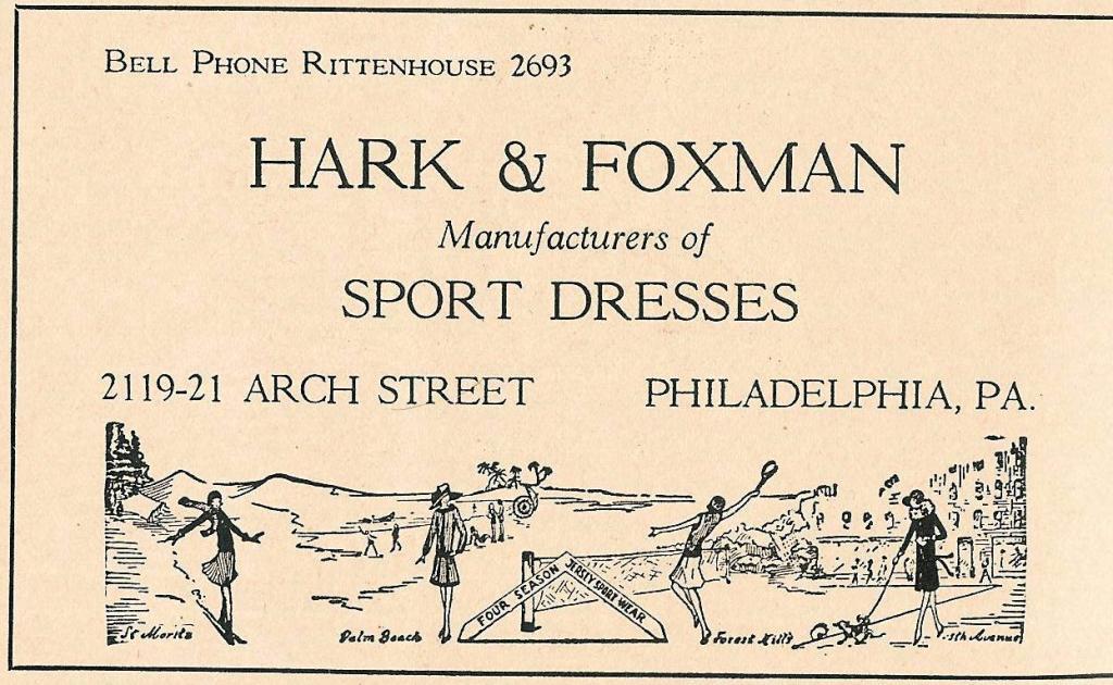 Hark+Foxman sport dresses 2119 21 Arc 1928 WD 456