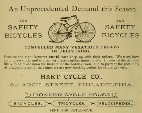 Hart Cycle 811 Arc PhilEnv 1889