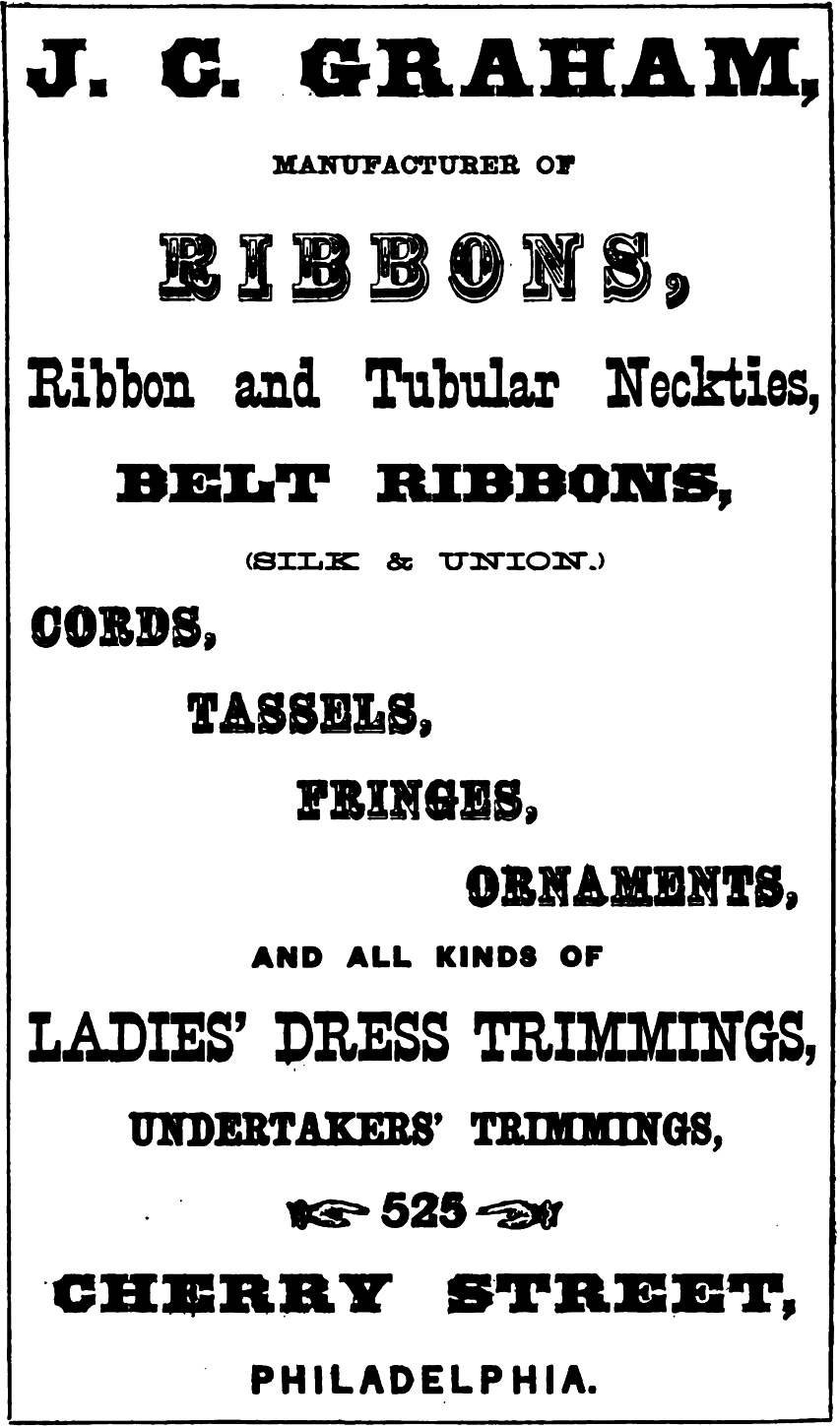 JC Graham, ribbons, etc 525 Chy Freedley 1867 274 - Copy