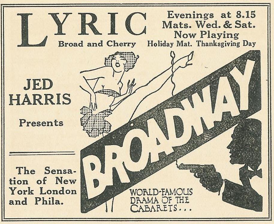 II Lyric Th 14+Chy 1927 Amusements...Phila 30