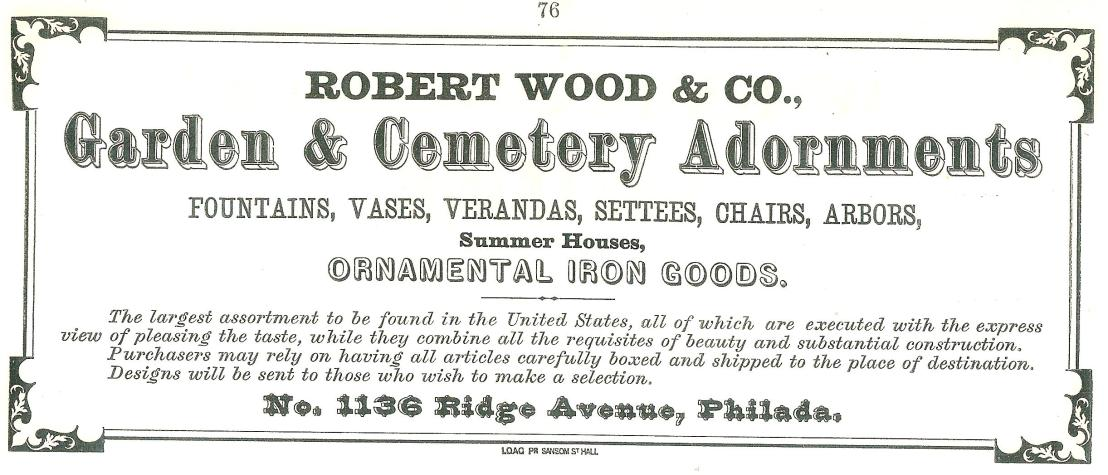 Rbt Wood+Co, garden+cemetery adornments 1136 Rg NEW MUSIC ALBUM ca 1869 p76