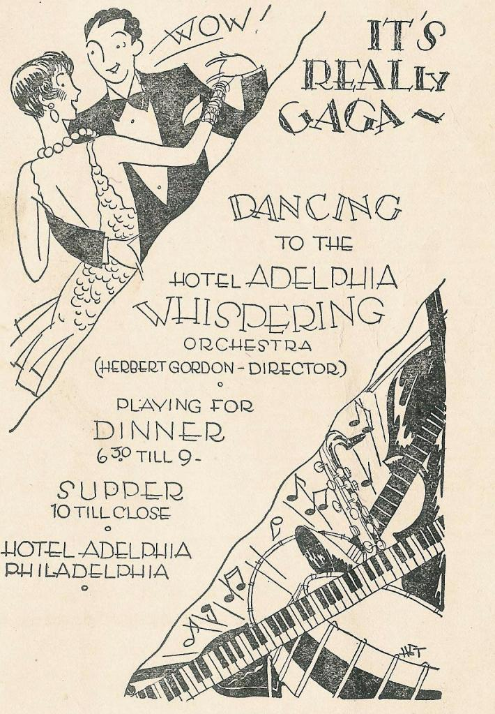 vvKK Adelphia Gaga 1928 Shubert