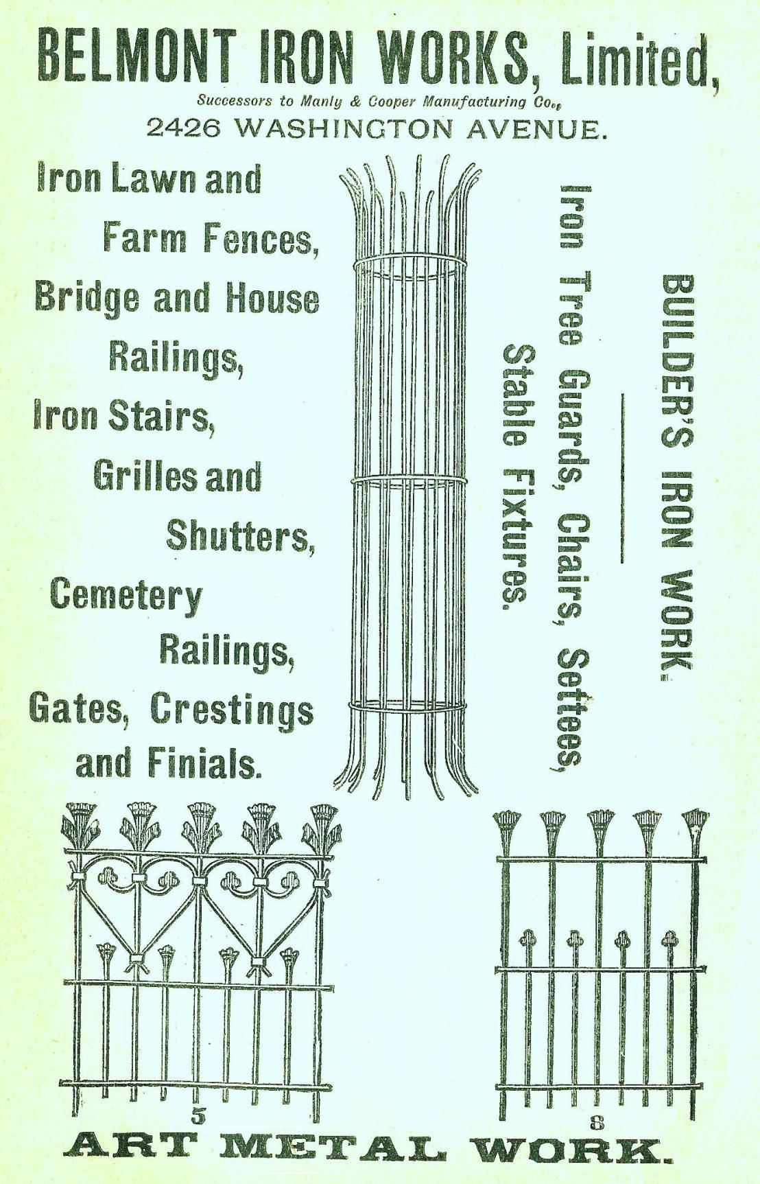Belmont Iron Works, 2426 Wash Boyds BusDir 1890 opp 1067