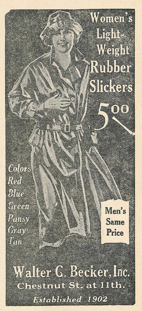 Walter G Becker, Inc, slickers, Chs+11