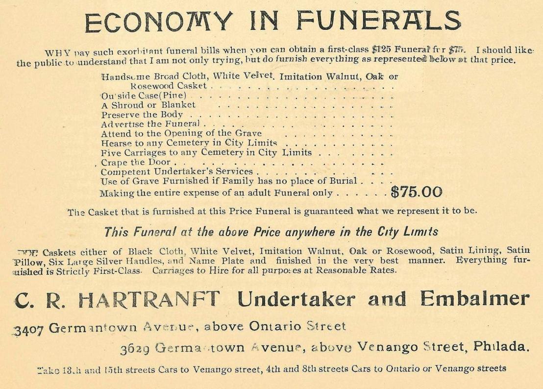 CR Hartranft funerals 3629 GTA ab Venango 1898 Peace Jubilee