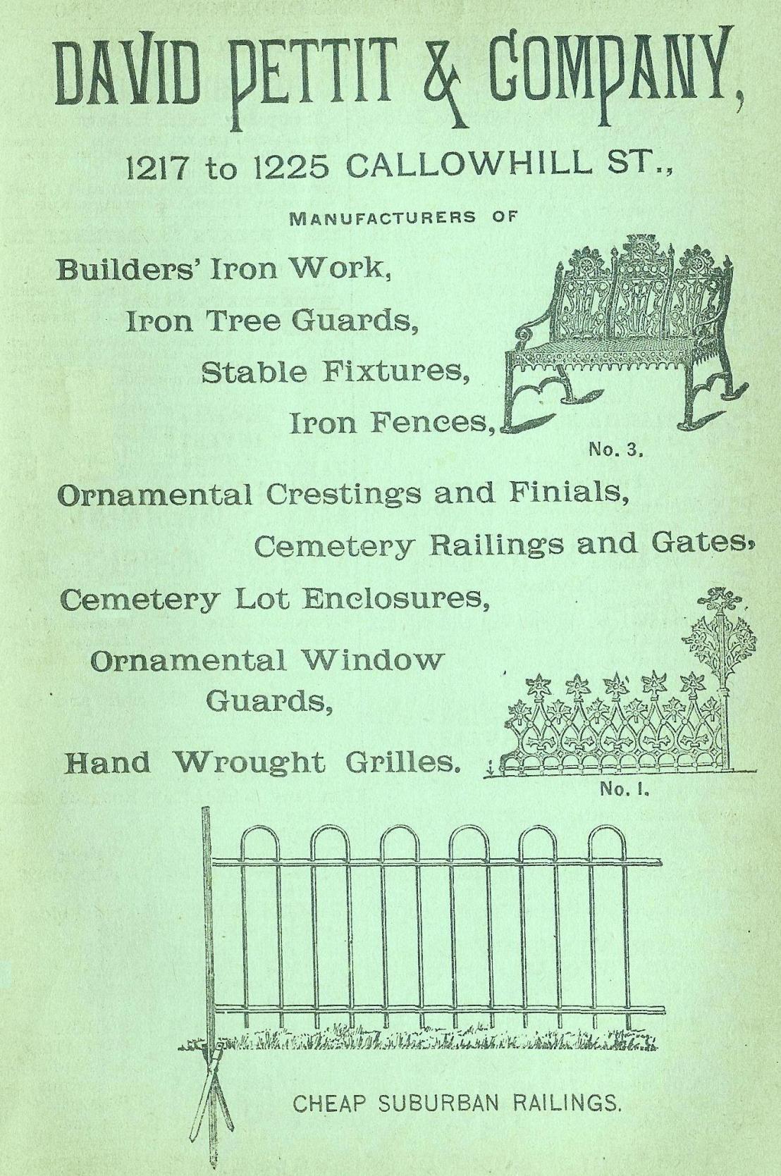David Pettit+Co, iron work 1217 25 Clh Boyds BusDir 1890 opp 1066