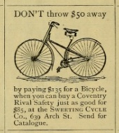 Sweeting Cycle Co 639 Arc PhilEnv 1889