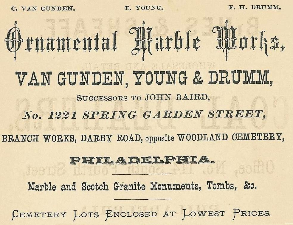 Van Gunden,Young+Drumm,ornamental marble,1221 SG,PHIL GUIDE 1876, p18 end