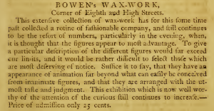 AA Bowens Waxworks 8+Mkt 1793 Phila Register too