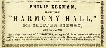 Philip Eleman Harmony Hall Shippen+5 ab 1849