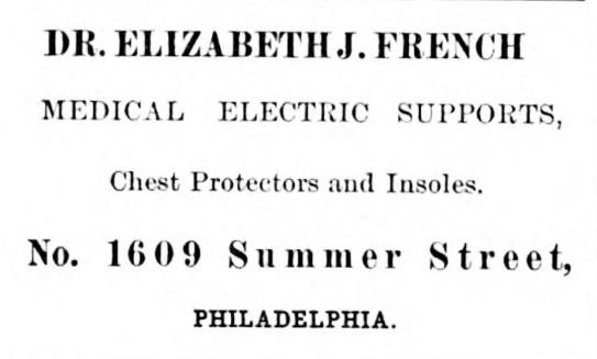 Eliz J French electrical supports 1609 Summer NEW CENTURY FOR WOMAN 24 June 1876