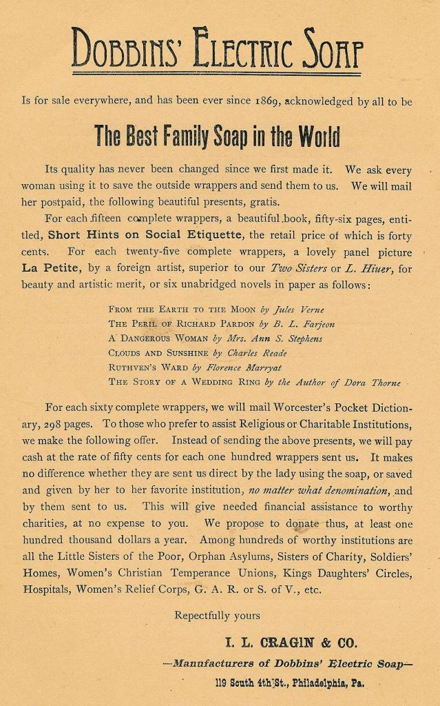 IL Cragin+Co, Dobbins Electric Soap 119 4s 11-1891TEMPLE