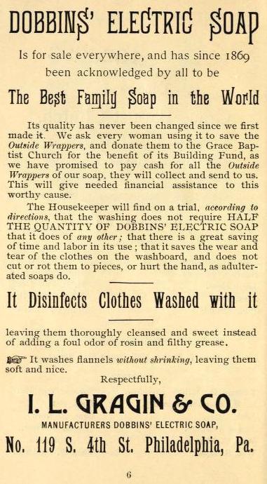 Gragin+Co, Dobbins' Electric Soap 119 4s 1892 Grace Bp Visiting List_0016