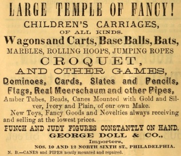 Geo Doll+Co, Temple of Fancy game cane toy novelty 12-10 6n PUNCH+JUDY 1874 p 18