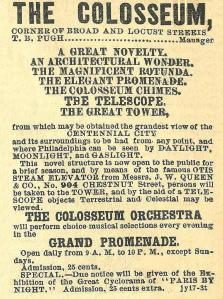 The Colosseum, see Centennial City 24s+Loc The Press 19 July 1876