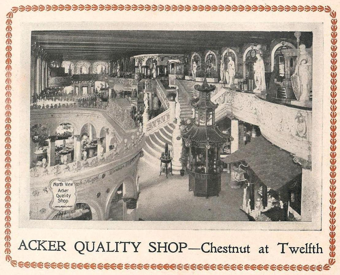 Acker Quality Shop Chs+12 Blue Book 1907 front