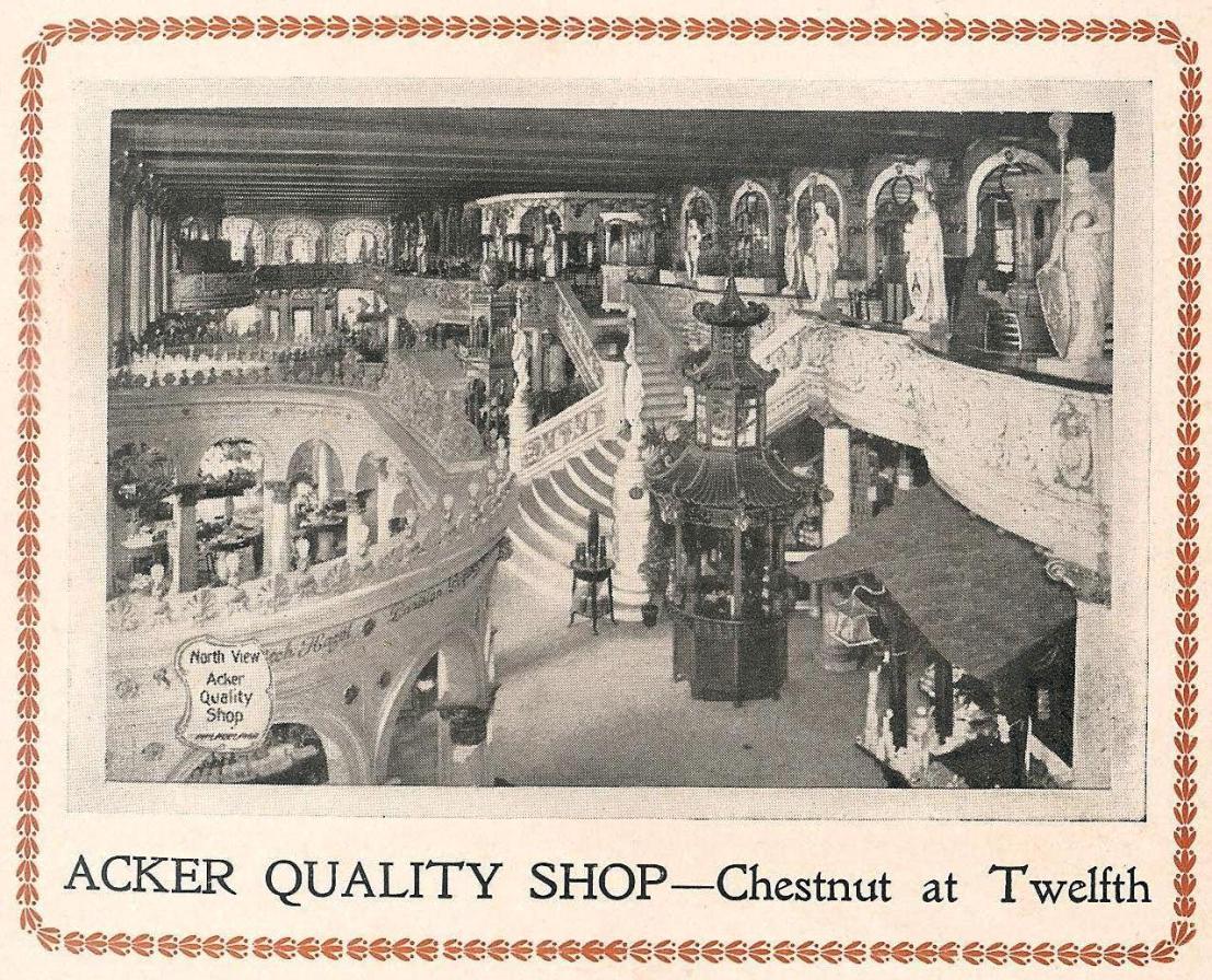 Acker Quality Shop Chs+12 Blue Book 1907 front