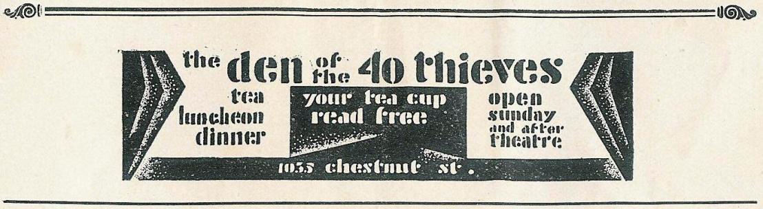 Den of 40 Thieves 1929 Walnut Street Th
