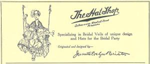 The Hat Shop 1929 Guide to Shops Service