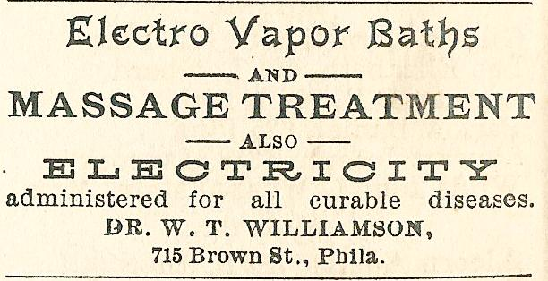 WT Williamson, electro vapor baths+electric cures 715 Brown Boyds BusDir 1890 1210