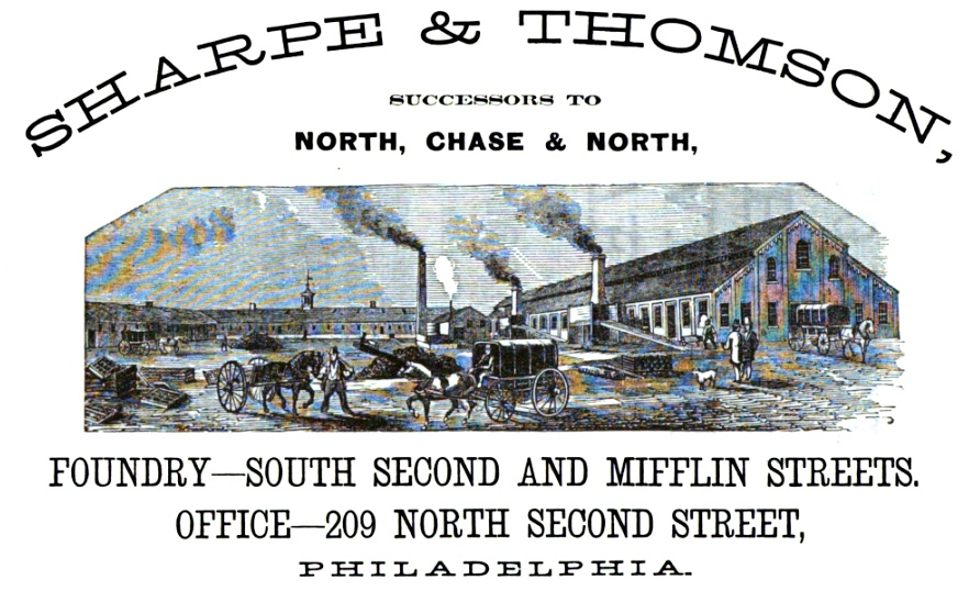 Chase NOT PRESENT Sharpe+Thomson foundry, ARTILLERY PROJECTILES 2s+MIfflin Freedley 1867 459