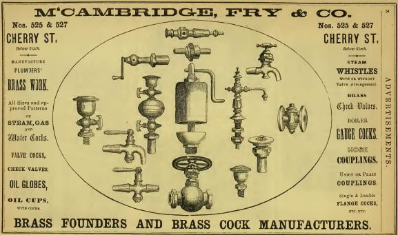 McCambridge,Fry&Co,brass founders+brass cock mrfs, 525-27 Chs