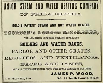 Jas P Wood, Union Steam+Water Heating Co,41 4s