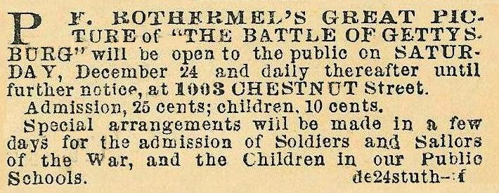 P F Rothermels great picture of the battle of Gettysburg, 1003 Chs
