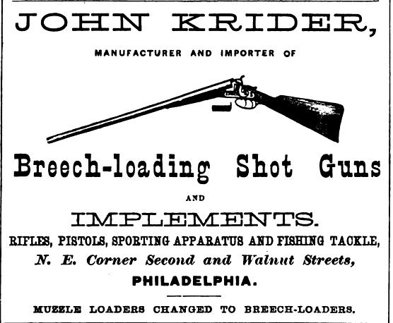 Krider Jhn Krider, shot guns 2n+Wln ne Freedley 1867 531