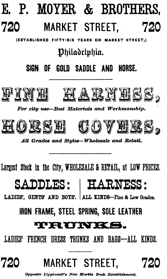 EP Moyer+Bros,harness+horse covers,729 Mkt