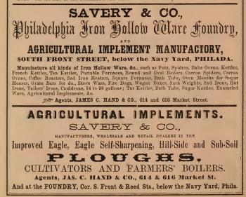 Savery+Co,Phila Io Hollow Ware Foundry,624-16