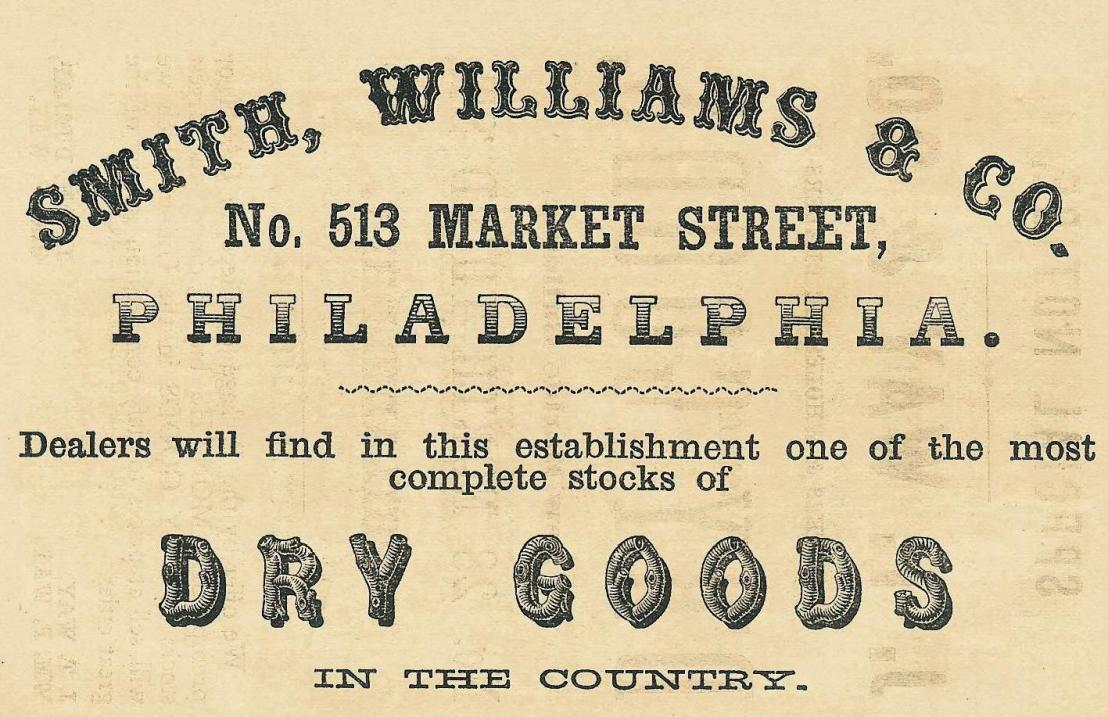 Smith,Wms+Co,dry goods,513 Mkt