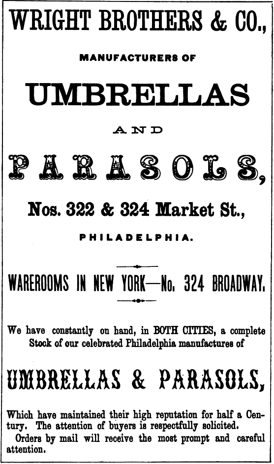 Wright Bros+Co,umbrellas+parasols,322-24 Mkt
